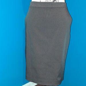 Dresses & Skirts - Mng by Mango Black&White Pinstripe Business Skirt